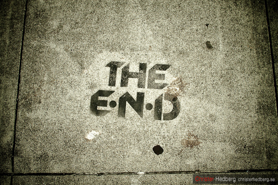 """The end"", Christer Hedberg 