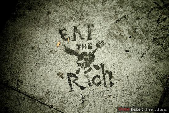 """Eat the rich"", Christer Hedberg | christerhedberg.se"
