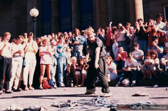 Eddie Izzard @ Edinburgh (1987). Foto: Christer Hedberg |  christerhedberg.se