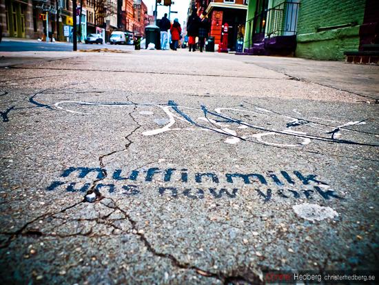 Muffinmilk runs New York. Foto: Christer Hedberg | christerhedberg.se