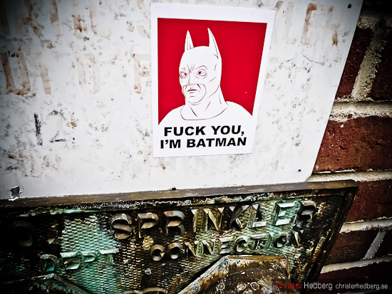 Fuck you. I'm Batman. Foto: Christer Hedberg | christerhedberg.se