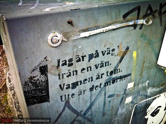 Jag är på väg från en vän. Foto. Christer Hedberg | christerhedberg.se