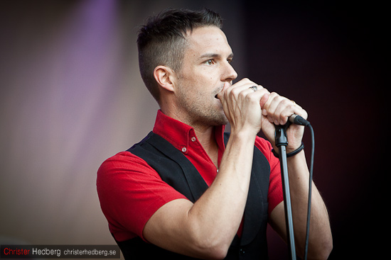 Brandon Flowers @ Where the action is. Foto: Christer Hedberg | christerhedberg.se
