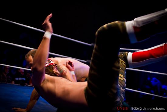 GBG Wrestling: Aguila Roja vs Hank Havoc. Foto: Christer Hedberg | christerhedberg.se