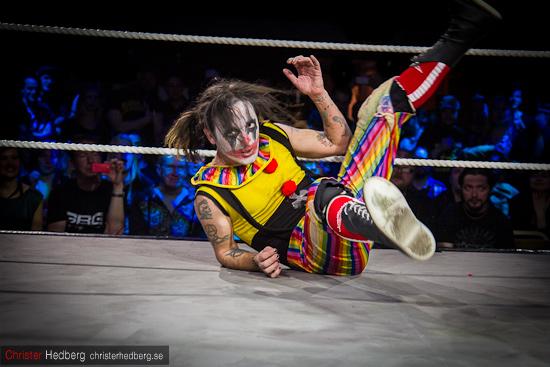 GBG Wrestling: Huckleberry Sinn vs Clownen Eddie Vega. Foto: Christer Hedberg | christerhedberg.se