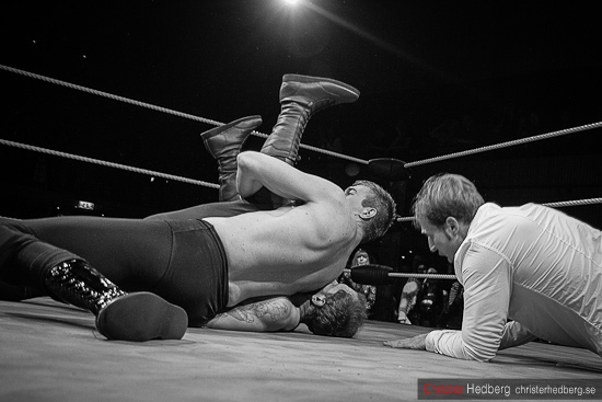GBG Wrestling: Hank Havoc vs Killer Karlsson. Foto: Christer Hedberg | <img src=