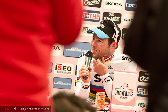 Mark Cavendish press conference. Foto: Christer Hedberg | christerhedberg.se