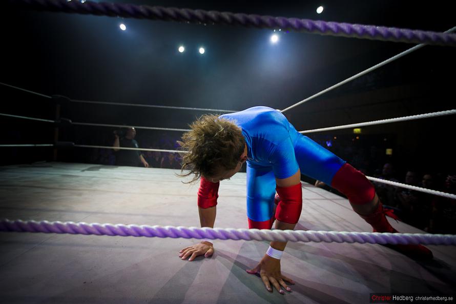 GBG Wrestling: Kid Gorgeous vs. Eddie Vega. Photo: Christer Hedberg | christerhedberg.se