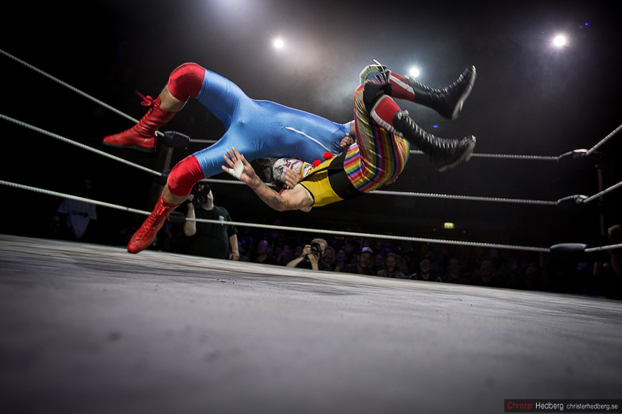 GBG Wrestling: Kid Gorgeous vs. Eddie Vega. Photo: Christer Hedberg | christerhedberg.se