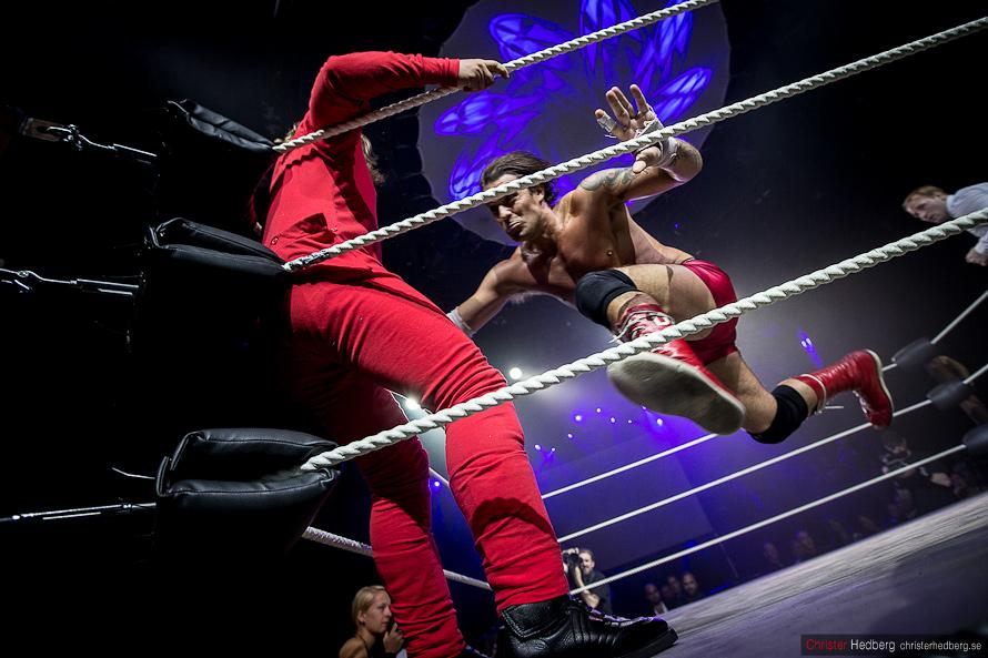 GBG Wrestling: Don Kalif vs. Huckleberry Sinn. Photo: Christer Hedberg   christerhedberg.se