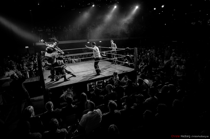 GBg Wrestling: Masters of the Mystical Arts vs Nifelwarg & Teen Wolf. Photo: Christer Hedberg | christerhedberg.se