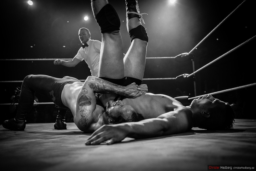 GBG Wrestling: Hank Havoc vs. Steinbolt. Photo: Christer Hedberg | christerhedberg.se