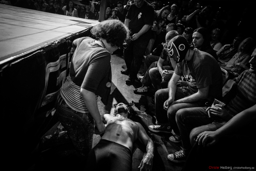 GBG Wrestling: Hank Havoc vs. Steinbolt. Photo: Christer Hedberg | christerhedberg.se