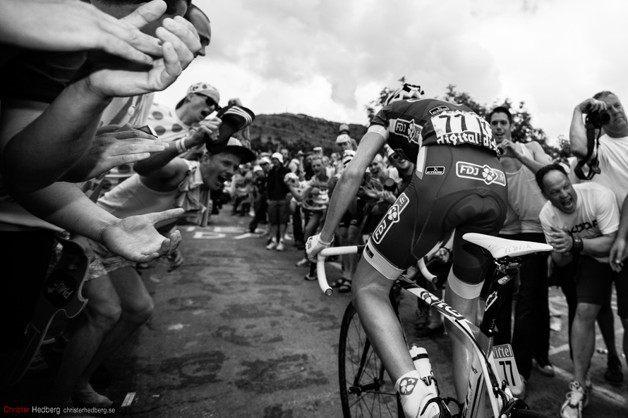 Tour de France '13: Arnold Jeannesson on Alpe d'Huez. Photo: Christer Hedberg | christerhedberg.se