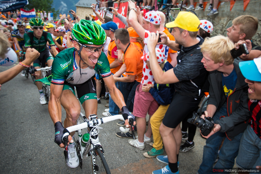 Tour de France 2013: The fighting face of Thomas Voeckler. Photo: Christer Hedberg | christerhedberg.se