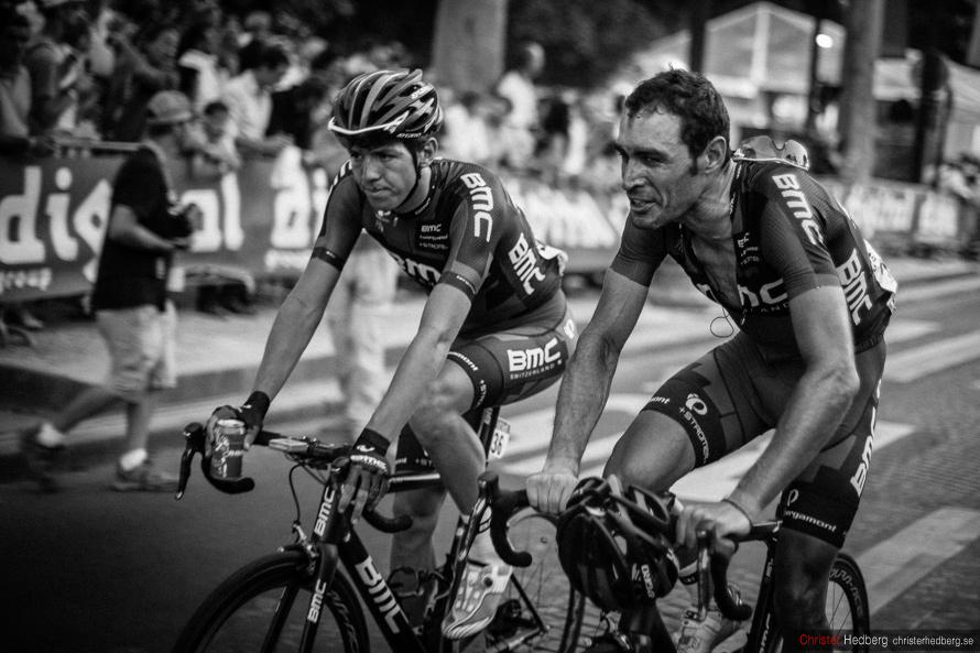 Tour de France 2013: Steve Morabito and Manuel Quinziato. Photo: Christer Hedberg | christerhedberg.se