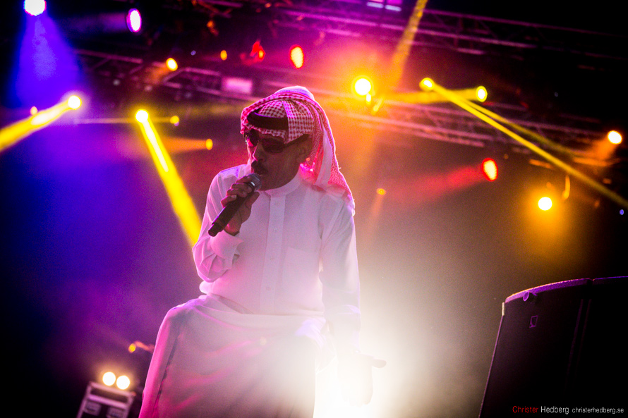 Omar Souleyman at Way Out West 2013. Photo: Christer Hedberg | christerhedberg.se